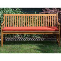 Panca da giardino in legno di acacia con cuscino color terracotta 160