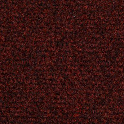 vidaXL Tappetini Autoadesivi per Scale 15 pz 65x21x4 cm Rosso
