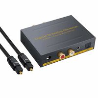 Convertitore da digitale ad analogico - 2 Toslink / 2 coassiali a RCA