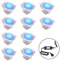 vidaXL Faretti Carrabili a LED 10 pz Blu
