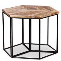 vidaXL Tavolino da Caffè in Legno Massello di Mango 48x48x40 cm