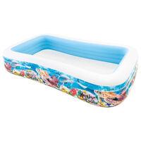 Intex Piscina per Famiglia Swim Center 305x183x56 cm Design Marino