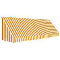 vidaXL Tenda da Sole per Bistrò 400x120 cm Arancione e Bianca
