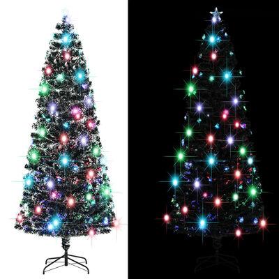 vidaXL Albero di Natale Artificiale con Supporto/LED 240 cm 380 Rami