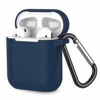 Custodia Per Airpods Silicone Extra Antiurto Blu Scuro