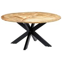 vidaXL Tavolo da Pranzo Rotondo 150x76cm in Legno Massello di Mango