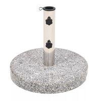vidaXL Base per Parasole in Granito Rotonda 22 kg