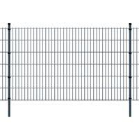 vidaXL Pannello di recinzione 2D giardino con paletti 2008x1230 mm 26m grigio