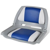 Sedile per barca con schienale pieghevole e cuscino 41 x 51 x 48 cm