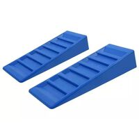 ProPlus Set di Livellatori per Roulotte 2 pz 75 mm in Plastica Blu