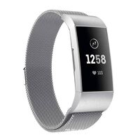 Bracciale Fitbit Charge 3 milanese - argento - S