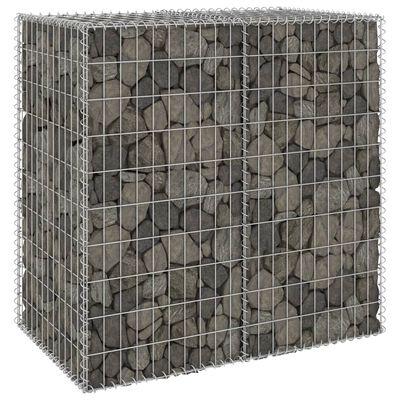 vidaXL Gabbione con Copertura in Acciaio Zincato 100x60x100 cm