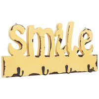 vidaXL Appendiabiti a Muro SMILE 50x23 cm
