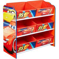 Disney Portaoggetti Per Bambini Cars Rosso 60x30x64 cm WORL320019