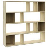 vidaXL Libreria/Divisorio Rovere Sonoma 110x24x110 cm in Truciolato