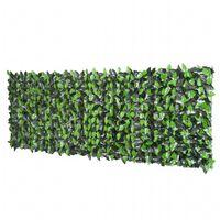 Outsunny Rotolo Siepe Sempreverde Sintetica per Esterno Verde