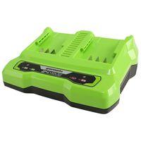 Greenworks Caricabatterie a Doppio Slot 24 V 2 A