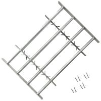 vidaXL Grate per Finestre Regolabili 4 Barre Trasversali 700-1050 mm