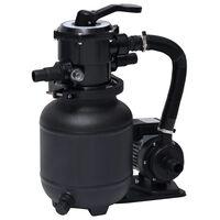vidaXL Pompa con Filtro a Sabbia per Piscine Valvola a 7 Posizioni 18L