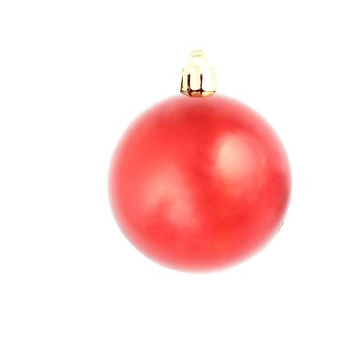 vidaXL Set Palline di Natale 113 pz 6 cm Rosse, Rosso