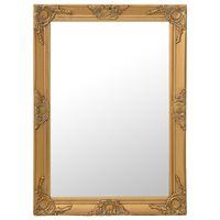 vidaXL Specchio da Parete Stile Barocco 60x80 cm Oro