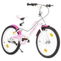 vidaXL Bici per Bambini 20 Pollici Rosa e Bianca