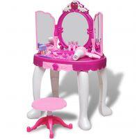 vidaXL Gioco per Bambini Tavolo Cosmetica 3 Specchi con Luci/Suoni