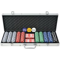 vidaXL Set da Poker con 1000 Chips Alluminio
