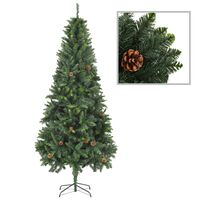 vidaXL Albero di Natale Artificiale con Pigne Verde 210 cm