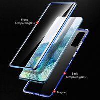 Custodia per telefono in vetro temperato per Samsung Galaxy A71 blu