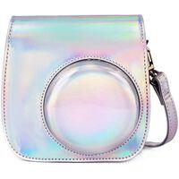 Borsa per fotocamera per Instax Mini 11 - argento / floreale