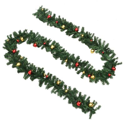 vidaXL Ghirlanda di Natale Decorata con Palline 20 m,