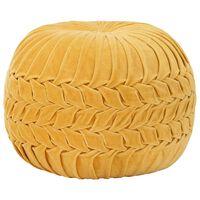 vidaXL Pouf in Velluto di Cotone Design Fumé 40x30 cm Giallo