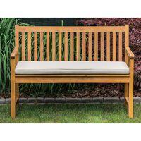 Panca da giardino in legno di acacia con cuscino beige 120 cm VARA