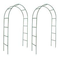 vidaXL Archi da Giardino 2 pz per Piante Rampicanti