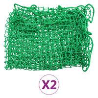 vidaXL Reti per Rimorchi 2 pz 2,5x4 m in PP