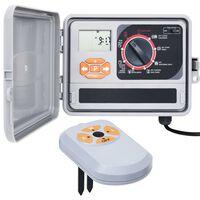 vidaXL Sistema di Controllo Irrigazione Giardino con Sensore Umidità