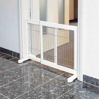 TRIXIE Cancello per Cani in Legno 65-108x61 cm