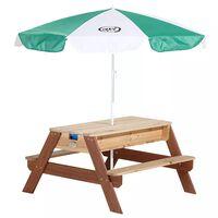 AXI Tavolo da Picnic Nick Sabbia/Acqua con Ombrellone