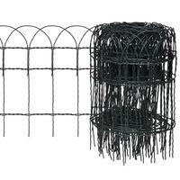 vidaXL Recinzione per Giardino in Ferro Verniciato a Polvere 25x0,4 m