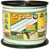 Kerbl Nastro per recinzione elettrica Star PE 200 m 40 mm 441503