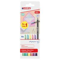 edding Penne Colorate Classiche a Punta Fine 6 pz Multicolore