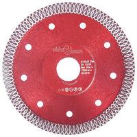 vidaXL Disco da Taglio Diamantato con Fori in Acciaio 125 mm