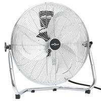 vidaXL Ventilatore da Pavimento a 3 Velocità 60 cm 120 W Cromato