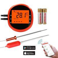 Termometro per girarrosto wireless intelligente con 2 sensori