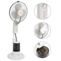 vidaXL Pedestal Mist Fan 3 Wind Speeds White