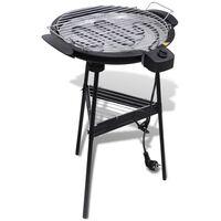 Barbecue elettrico rotondo con supporto BBQ Grill da giardino