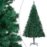 vidaXL Albero di Natale Artificiale con Rami Folti Verde 150 cm PVC