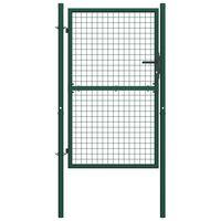 vidaXL Cancello per Recinzione in Acciaio 100x200 cm Verde