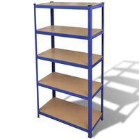 vidaXL Struttura per Garage con Scaffali Blu
